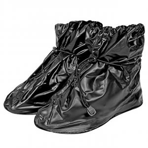 Copriscarpe impermeabili neri Taglia L 43-44 H25 cm.25h