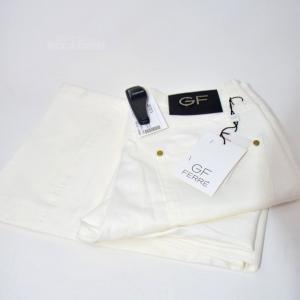 Pantaloni Donna Ferrè Bianchi Tg 40