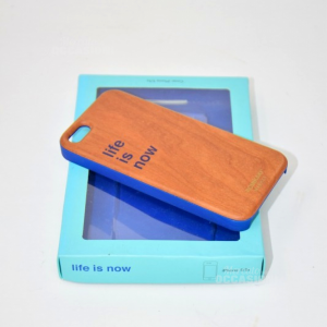 Cover Iphone 5/5s Stile Legno Life Is