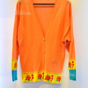 Cardigan Donna Rocco Barocco Tg 42 Arancione