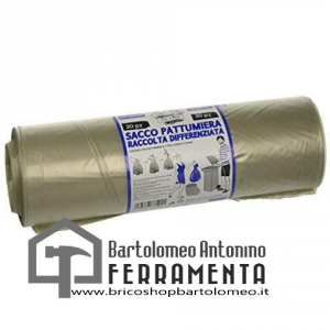 SACCO SPAZZATURA PLASTICA  cm 72x110 NEUTRO RT 10/pz