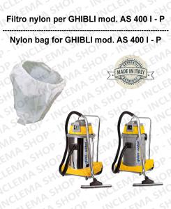 SAC FILTRE NYLON cod: 3001215 pour aspirateur GHIBLI Reference AS400