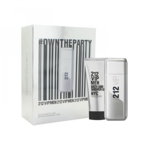 Carolina Herrera 212 Vip Men Eau De Toilette Spray 100ml + Shower Gel 100ml SET 2018