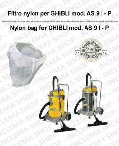 SAC FILTRE NYLON cod: 3001215 pour aspirateur GHIBLI Reference AS9