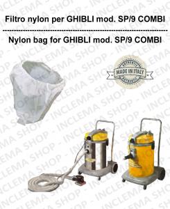 SAC FILTRE NYLON cod: 3001215 pour aspirateur GHIBLI Reference SP9/COMBI