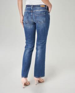 Jeans straight blu a vita regolare