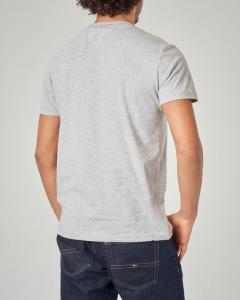T-shirt grigia con logo stampato