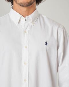 Camicia bianca button down in twill di cotone