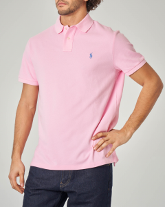 Polo rosa custom slim-fit