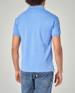 Polo azzurra custom slim-fit
