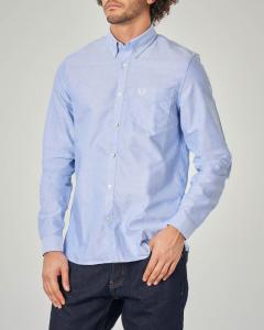 Camicia azzura in Oxford-cotton button down