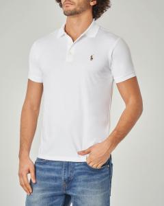 Polo bianca in Pima cotton slim-fit