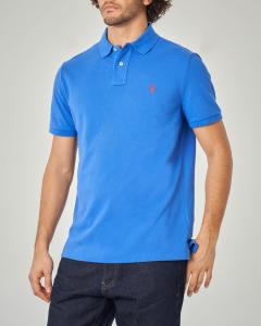 Polo blu royal custom slim-fit