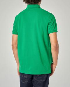 Polo verde custom slim-fit