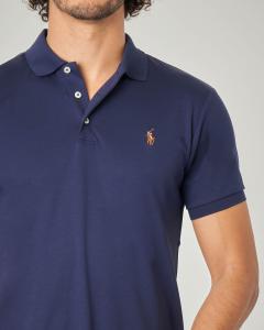 Polo blu in Pima cotton slim-fit