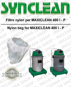 NYLON filter bag cod: 3001215 for vacuum cleaner MAXICLEAN model MX400 BY SYNCLEAN