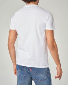 T-shirt bianca con logo batwing rosso