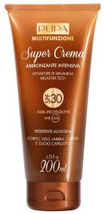 PUPA Super Cream Intensive Tanning Body/Face/Lips/Hair Waterproof 250Ml Spf30