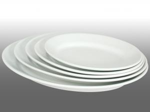 SATURNIA Oval tivoli porcelain cm 42  plate able furniture