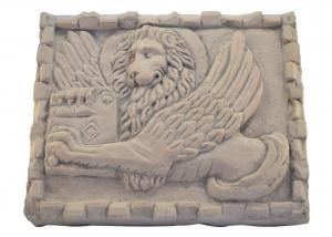 Marble Panel Hand Carved Saint Mark Lion Italian Craftsmanship