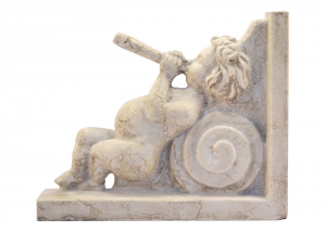 Marble Sculpture Cherub Musician Shelf Italian Handicrafts