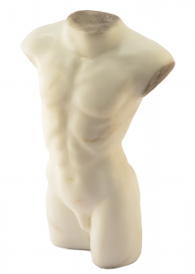 Male Bust Ornament Marble Hand-Carved Statuary Carrara