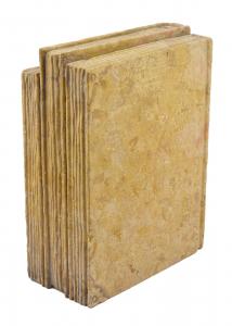 Marble Sculpture Bookend Shelf HandCarved Italian Craftsmanship