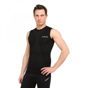 BRIKO Sleeveless T-Shirt Man Sports Underwear Muscle Compression Black