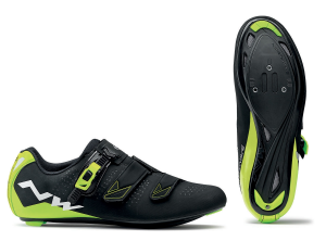 NORTHWAVE Man road cycling shoes PHANTOM 2 SRS black/yellow fluo
