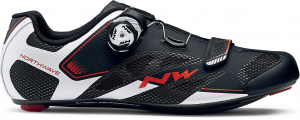 NORTHWAVE Man road cycling shoes SONIC 2 PLUS WIDE black/white/red