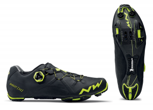 NORTHWAVE Man MTB XC shoes GHOST XC black/yellow fluo