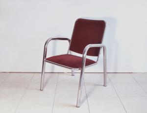 Set di 4 sedie vintage velluto rosso