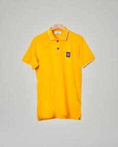 Polo gialla con bordino 10-14 anni