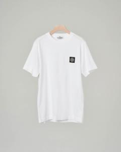T-shirt bianca con logo 10-14 anni