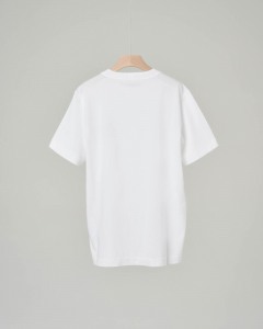 T-shirt bianca con logo 6-8 anni