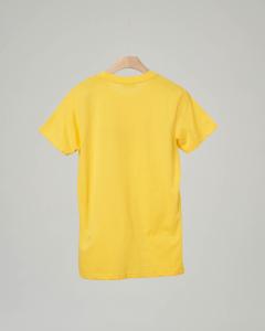 T-shirt gialla con logo sovrapposto