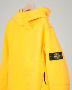 Giacca gialla in Soft Shell con cappuccio 10-14 anni