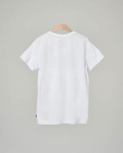 T-shirt bianca con logo batwing