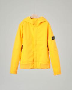 Giacca gialla in Soft Shell con cappuccio 8 anni