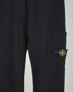 Pantalone nero in felpa con tascone 8 anni