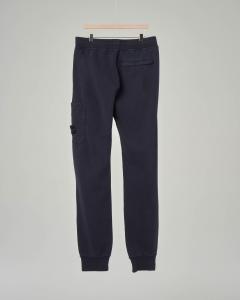 Pantalone blu in felpa con tascone 8 anni