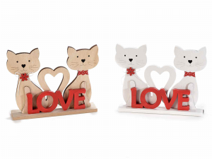 Coppia di gattini con la scritta Love (513790)