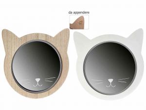 Specchio in legno a forma di Gatto (513753)