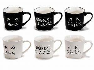 Tazzina da caffè con disegnati dei musetti di gatto(720519)