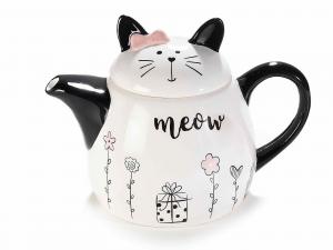 Teiera in ceramica con un gattino 713732