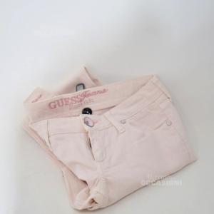 Pantalone Donna Guess Rosa Tg. 40