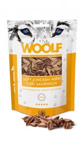 Snack cani e gatti woolf Sandwich di pollo e merluzzo
