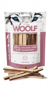 Snack cani woolf Long Triangolini di pollo e merluzzo