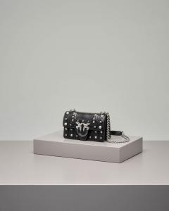 Mini Love Bag Idillio nera in pelle