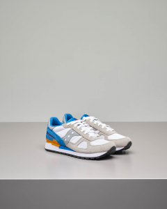 Sneakers Shadow O' beige bianche e blu royal